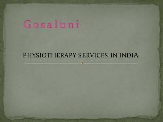 Physiotherapy services in Hyderabad