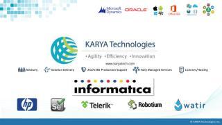 KARYA Technologies' Informatica Services