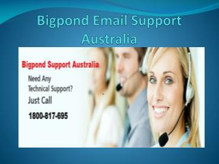 Bigpond Support Australia Number 1800-817-695