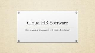 cloud HR software