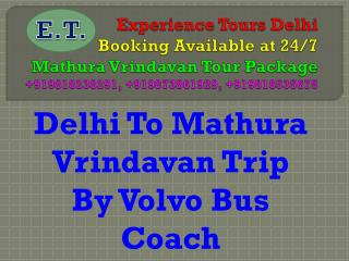 Mathura Vrindavan Tour by volvo bus