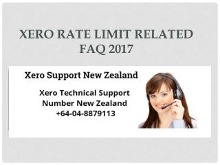 Xero Rate Limit Related FAQ 2017