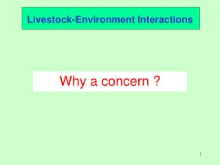 Livestock-Environment Interactions