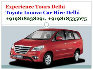 Innova Car Hire Delhi - Innova Car on Rent