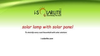 Buy Solar Lamp with solar Panel at Best Affordable prices.