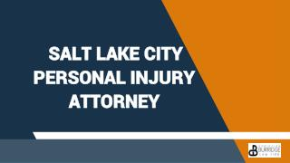 Salt Lake City Personal Injury Attorney