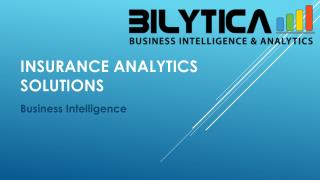 Insurance Analytics Solutions to avoid Business Loss