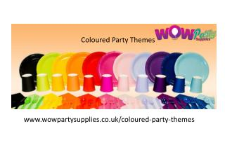 Coloured party themes, party tableware & Balloons