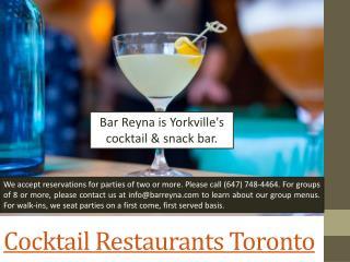 Best Toronto Restaurants