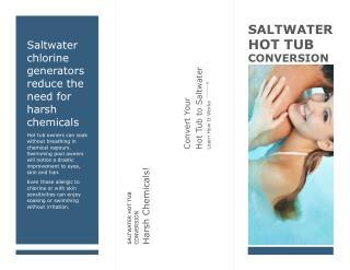 Saltwater Hot Tub Conversion Good For Body Salt Spa