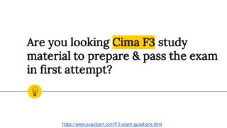 Cima F3 Questions Answers Dumps PDF