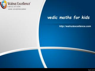 Vedic maths for kids.