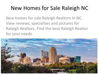 New Homes for Sale Raleigh NC