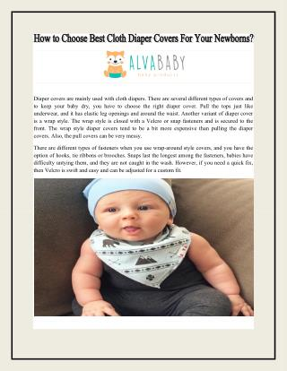 How to choose best Cloth Diaper Covers for your Newborns?