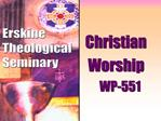Christian   Worship        WP-551
