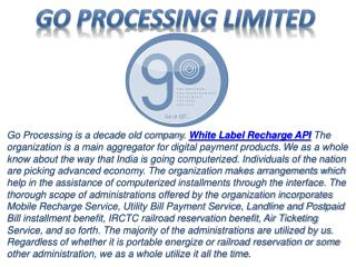 Go Processing - India's fastest White Label Recharge API