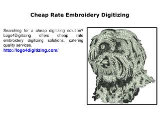 Cheap Rate Embroidery Digitizing