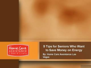 5 Tips for Seniors Who Want to Save Money on Energy