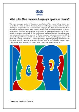 What is the most common languages spoken in canada?