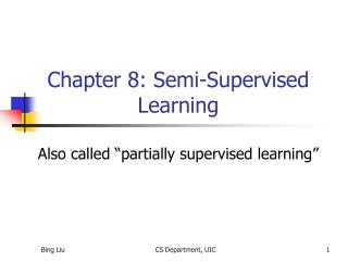 Chapter 8: Semi-Supervised Learning
