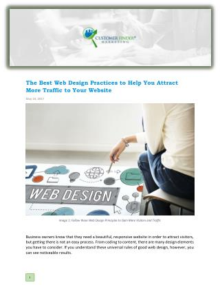 The Best Web Design Practices to Help You Attract More Traffic to Your Website