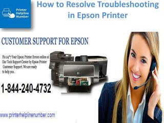 How to Solving Troubleshooting in Epson Printer - 1-844-240-4732