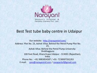 Best Test Tube Baby Centre in Udaipur
