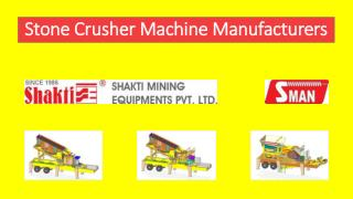 Stone Crusher Machine Manufacturers