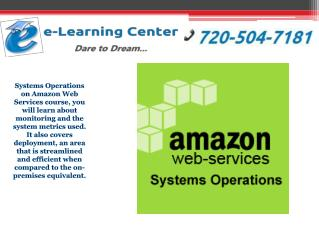 Systems Operations on Amazon Web Services