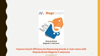 Improve Search Efficiency by Showcasing brands in main menu with Shop by Brand Magento 2 extension