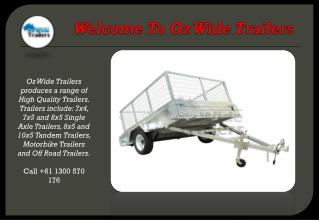 Trailers For Sale Brisbane & Gold Coast
