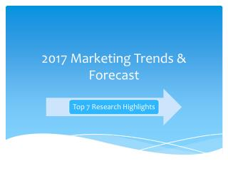 2017 Marketing Trends and Forecast