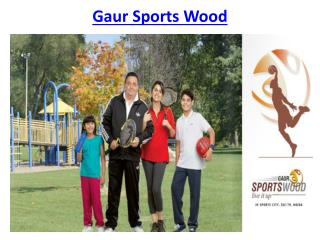 Gaur Sports wood low-density project