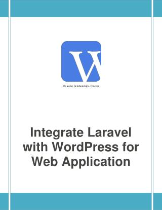 Integrate Laravel with WordPress for Web Application