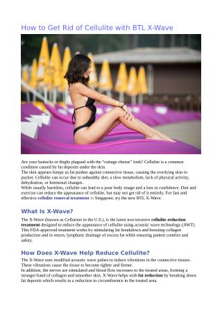 How to Get Rid of Cellulite with BTL X-Wave