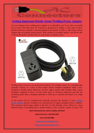 Getting Important Details About Welding Power Adapter.pdf