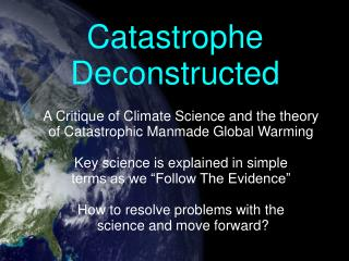 Catastrophe Deconstructed