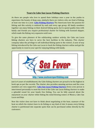 Tours In Cabo San Lucas Fishing Charters