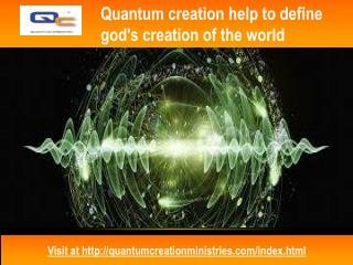 Know about God's creation of the world