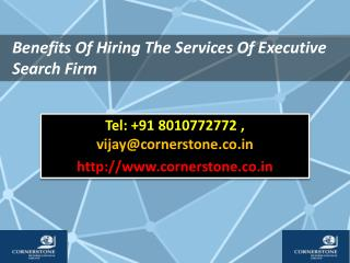 Benefits Of Hiring The Services Of Executive Search Firm
