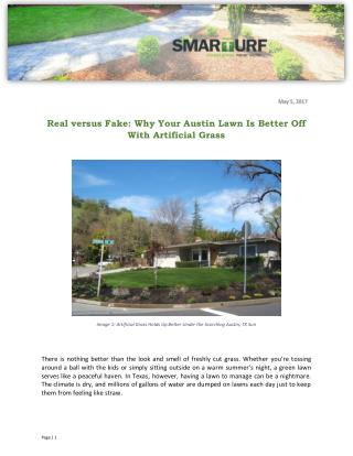 Real versus Fake: Why Your Austin Lawn Is Better Off With Artificial Grass