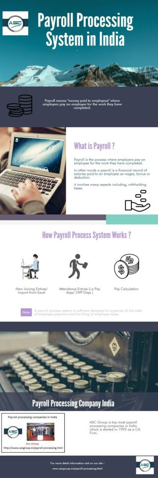 Payroll Processing Outsourcing Services in India by ASC Group