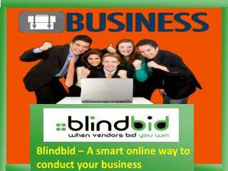 Get essential business services by Blindbid