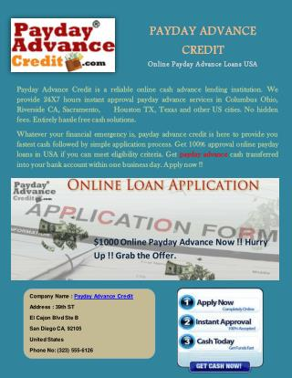 Online Payday Cash Advance Loans No Credit Check Instant Approval