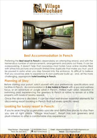 Best Accommodation In Pench National Park