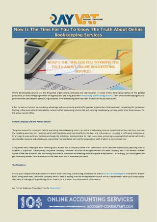 Online Bookkeeping Services: Now Is The Time To Know The Truth