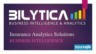 Insurance analytics solutions to solve business problems