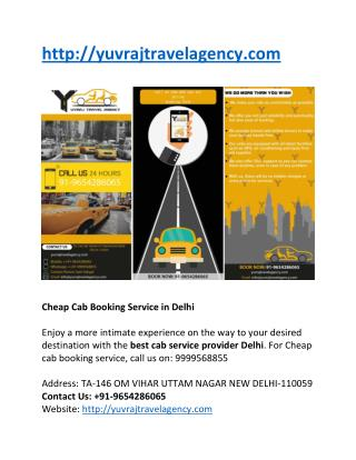 Online Taxi Booking Sites in Delhi