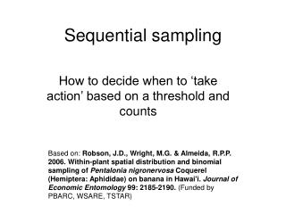 Sequential sampling