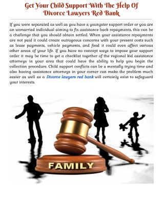 Get Your Child Support With The Help Of Divorce Lawyers Red Bank